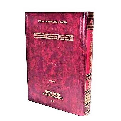 Le Talmud bilingue Artscroll Traité Berakhot vol 2  petit format suit le DAF YOMI