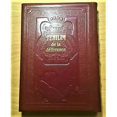 IDEE CADEAU  Psaumes relié en cuir marron grand format hébreu français et phonétique