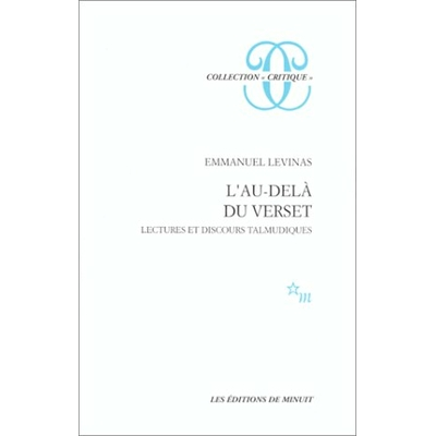 Emmanuel Levinas : L'au dela du verset