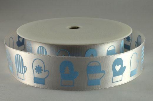 Ruban 1 M - Bleu (moufles) - 1.5 cm