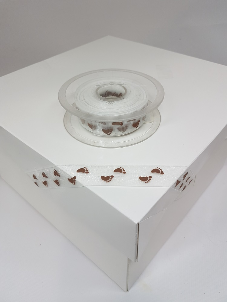 Ruban en satin pure 1 M – Pied marron– 2.2 cm