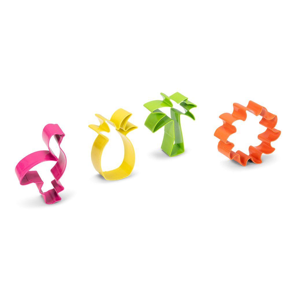 Emporte-pièces tropical  - Lot de 4