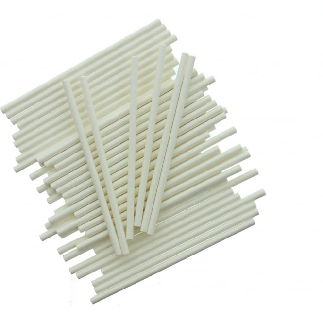 Bâtonnets à Cake pop - Blanc - Lot de 25