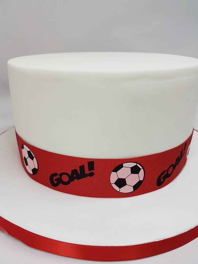 Ruban 1 M - Rouge (football) - 3.8 cm