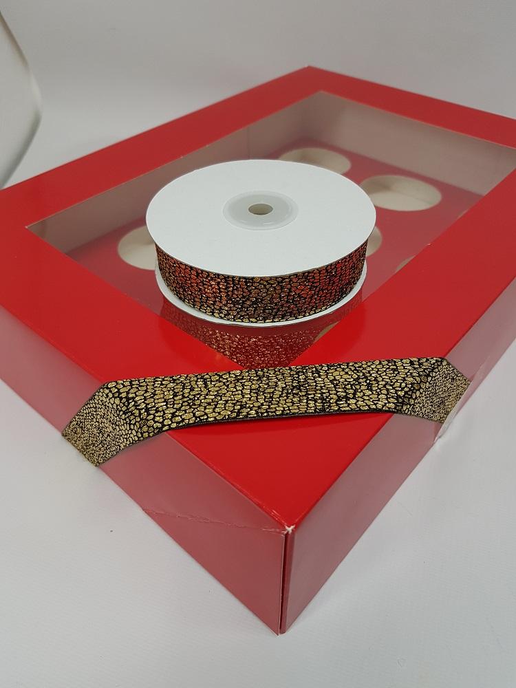 Ruban 1 M – Or/Marron ( serpent) – 2.5 cm