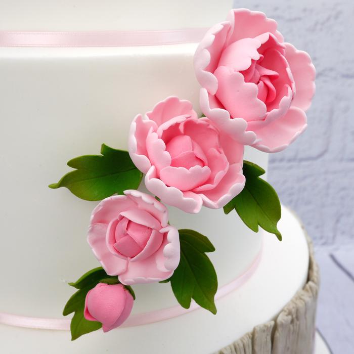 Fleur en sucre - Pivoine 15 cm - Rose
