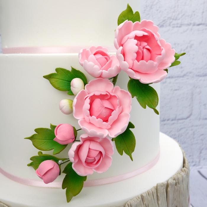 Fleur en sucre - Pivoine 16 cm - Rose