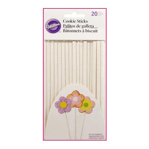 Bâtonnets à Cake Pop -  Blanc - Lot de 20
