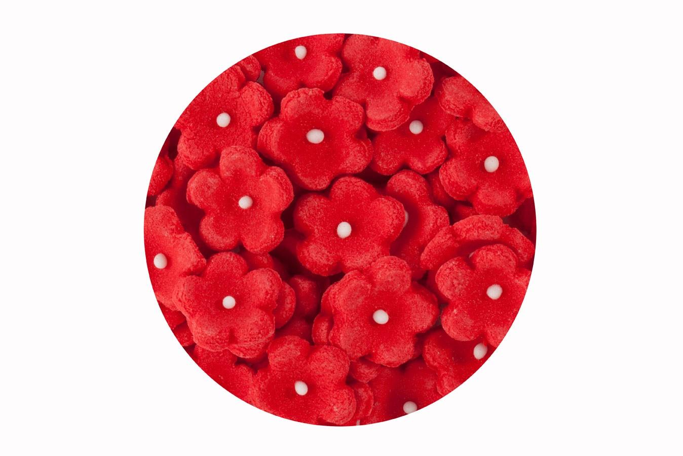 Décoration en sucre – Petites Fleurs Rouge