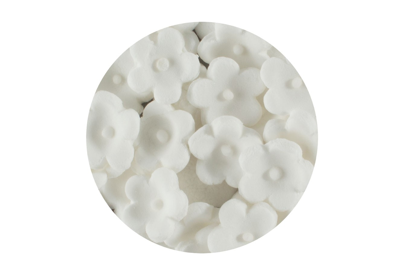 Décoration en sucre – Petites Fleurs Blanc