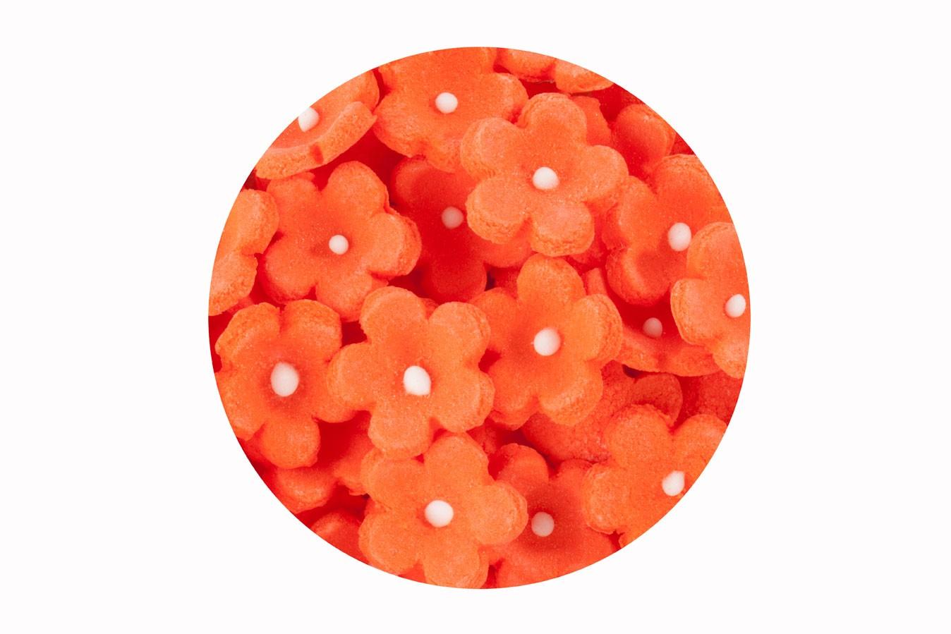 Décoration en sucre – Petites Fleurs Orange