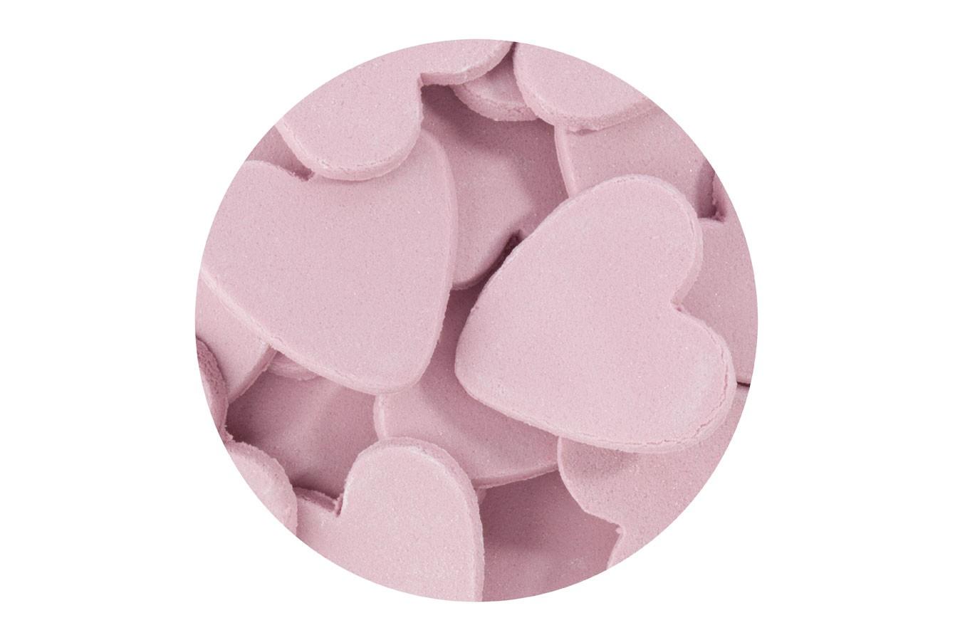 Décoration en sucre – Petits Coeurs Rose