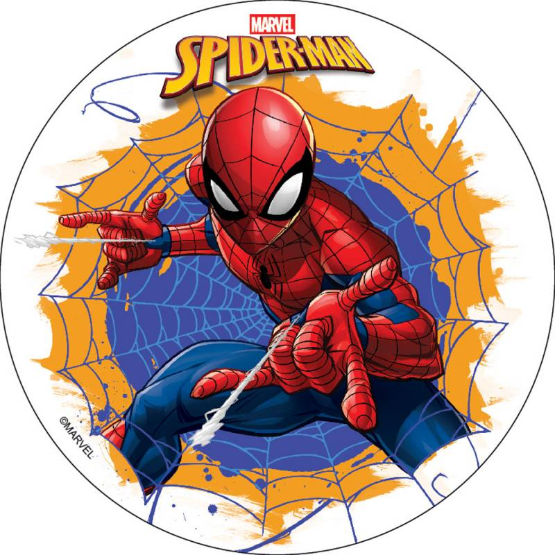 Disque Comestible Spiderman Sans Sucre/Gluten