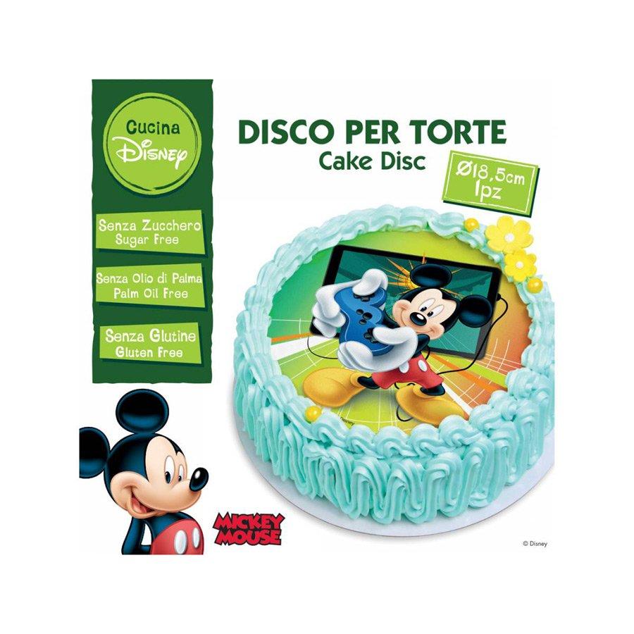 Disque Comestible Mickey Sans Sucre/Gluten