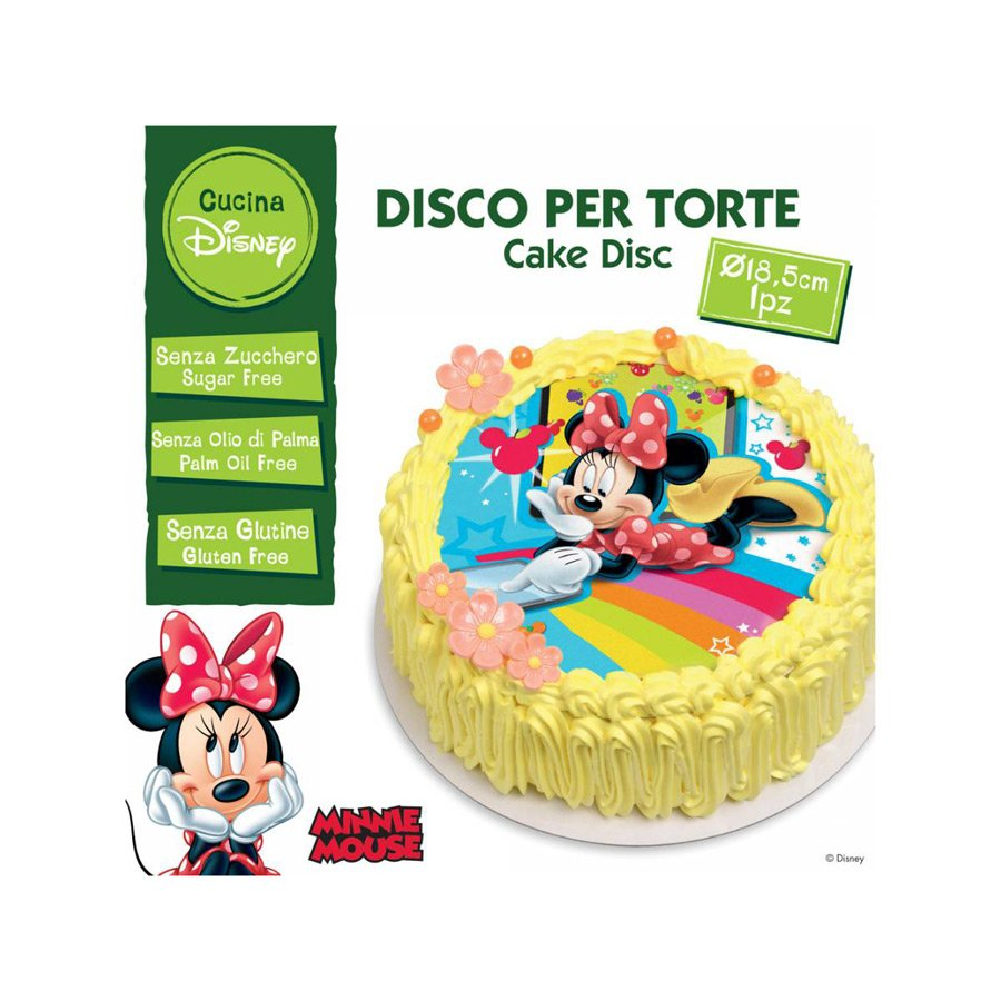 Disque Comestible Minnie Sans Sucre/Gluten