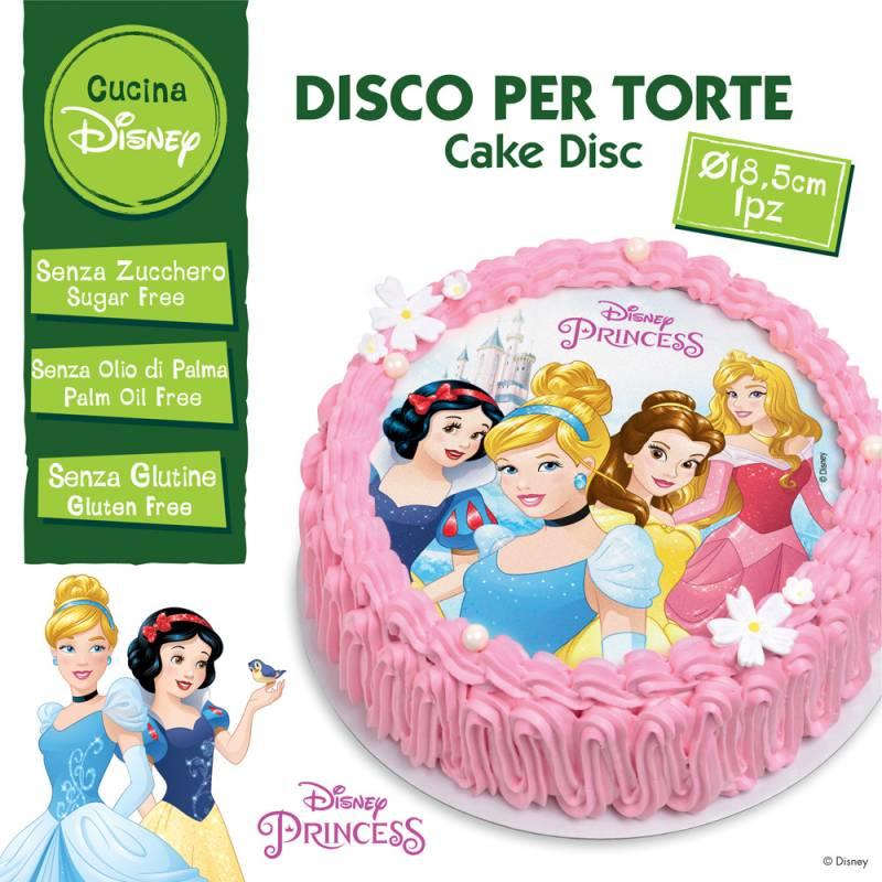 Disque Comestible Princesse Sans Sucre/Gluten