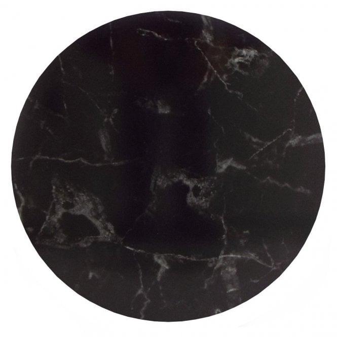 Semelle à gâteaux Rond – Marbre Noir - Choisir la taille