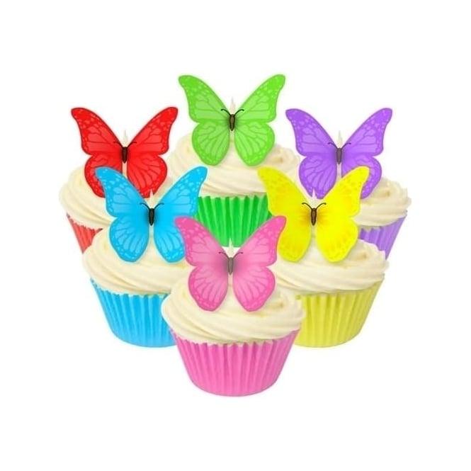 Toppers alimentaire – Papillons multicolore - Lot de 12