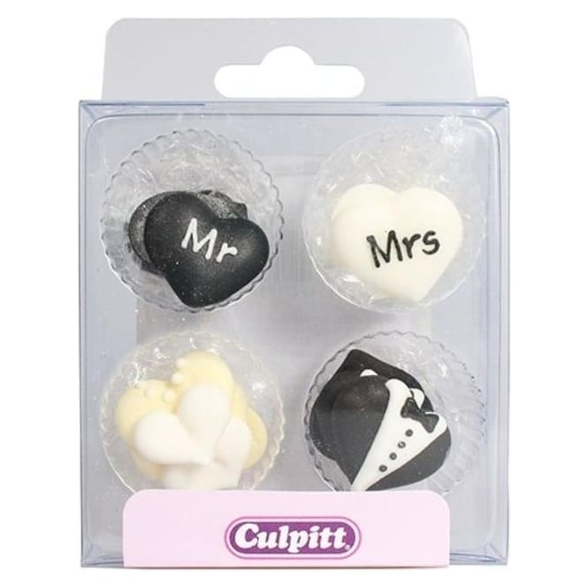 Décorations en sucre - Mr & Mrs