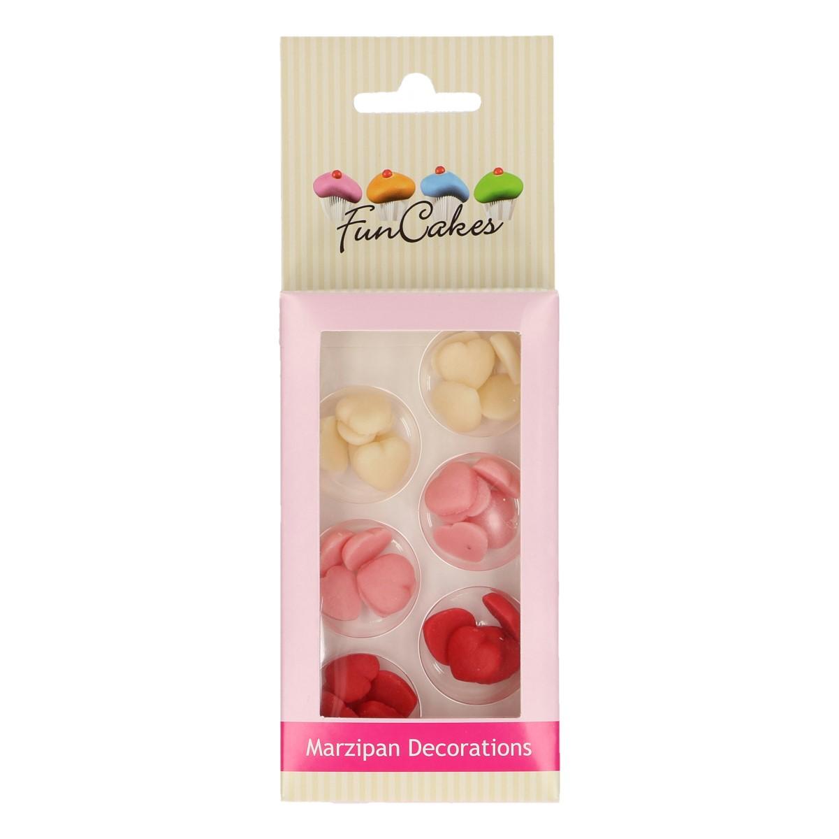 Décorations en sucre – Petits cœurs Rouge/Rose/Blanc