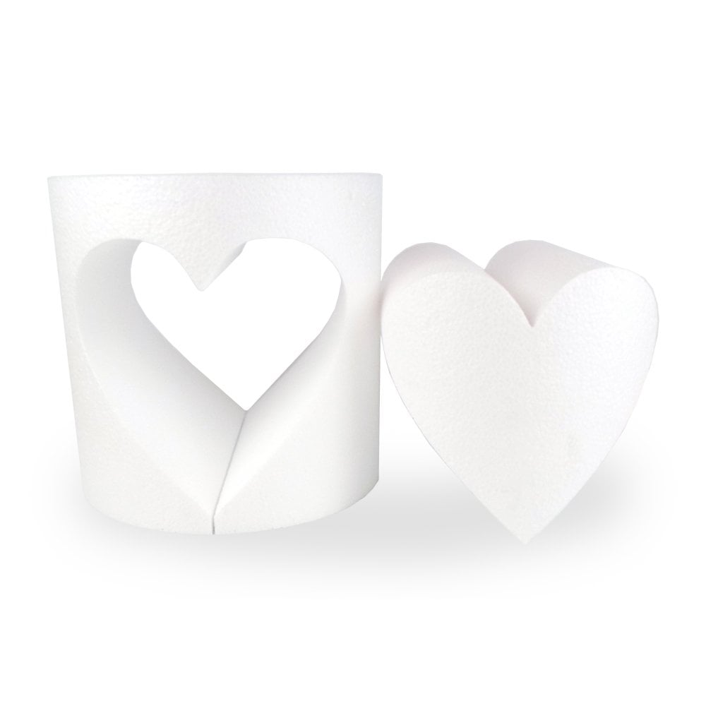 Dummy en polystyrène à ouverture coeur - 15 cm