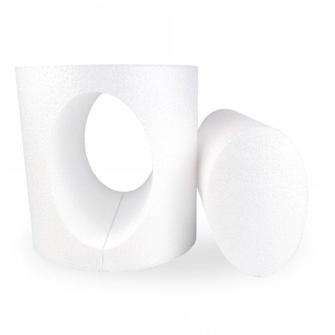Dummy en polystyrène à ouverture ovale – 15 cm
