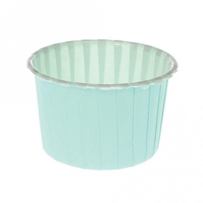Caissettes à cupcake – Bleu mer – Lot de 24