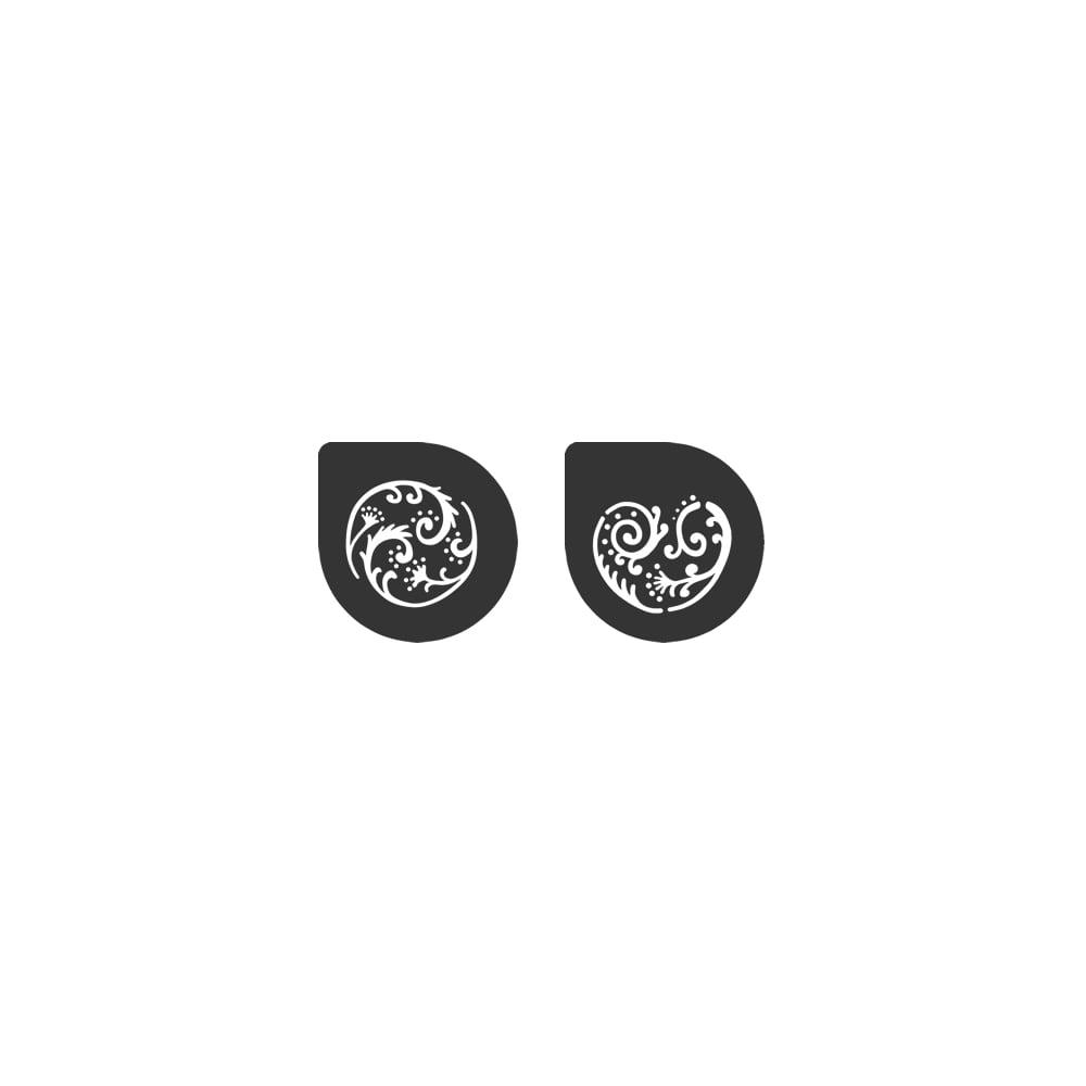 Pochoirs – Tourbillon de Fleurs – Lot de 2