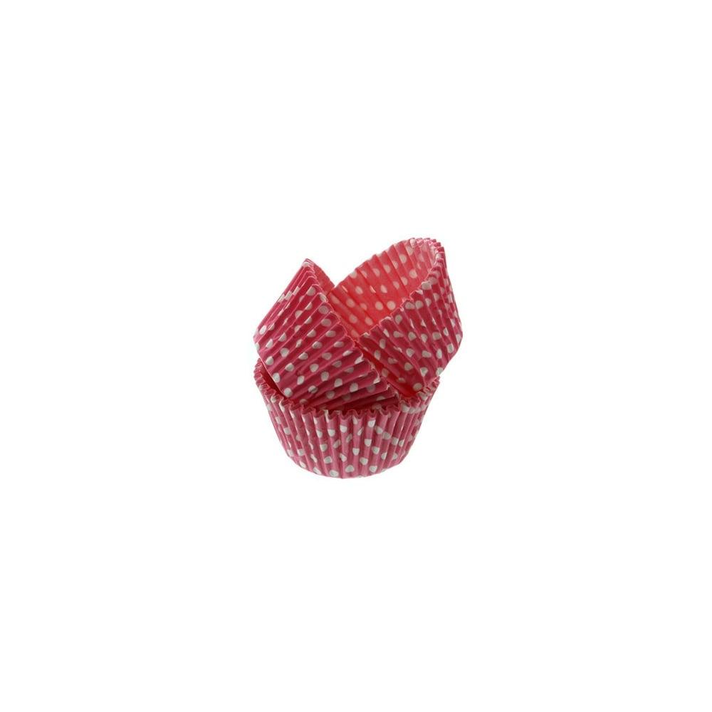 Caissettes à cupcake à pois – Rose – Lot de 50
