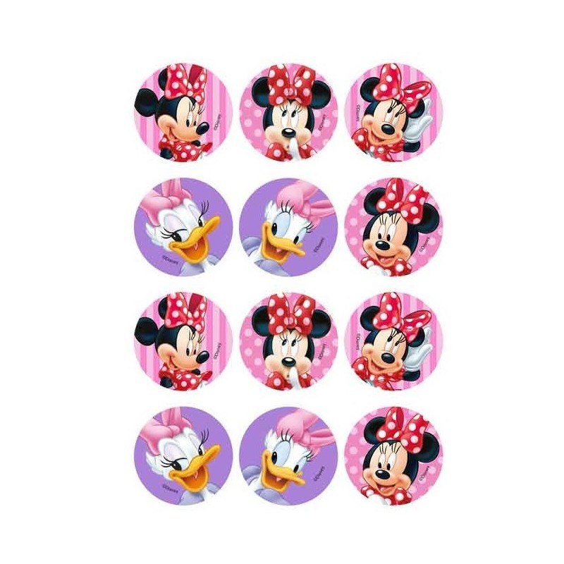 Mini disques en sucre - Minnie & Daisy