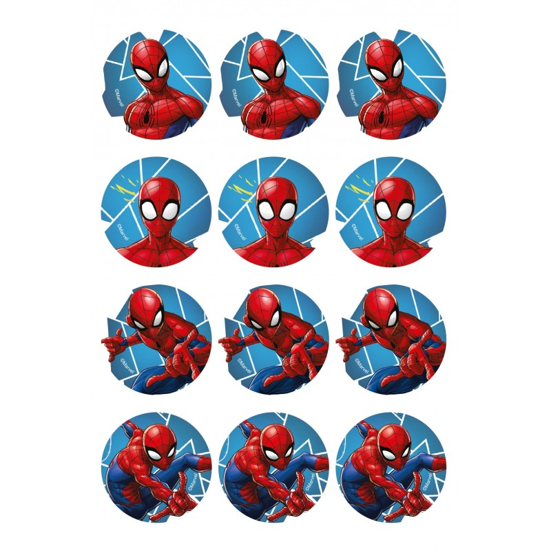 Mini disques en sucre - Spiderman