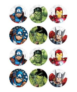 Mini disques en sucre – Avengers