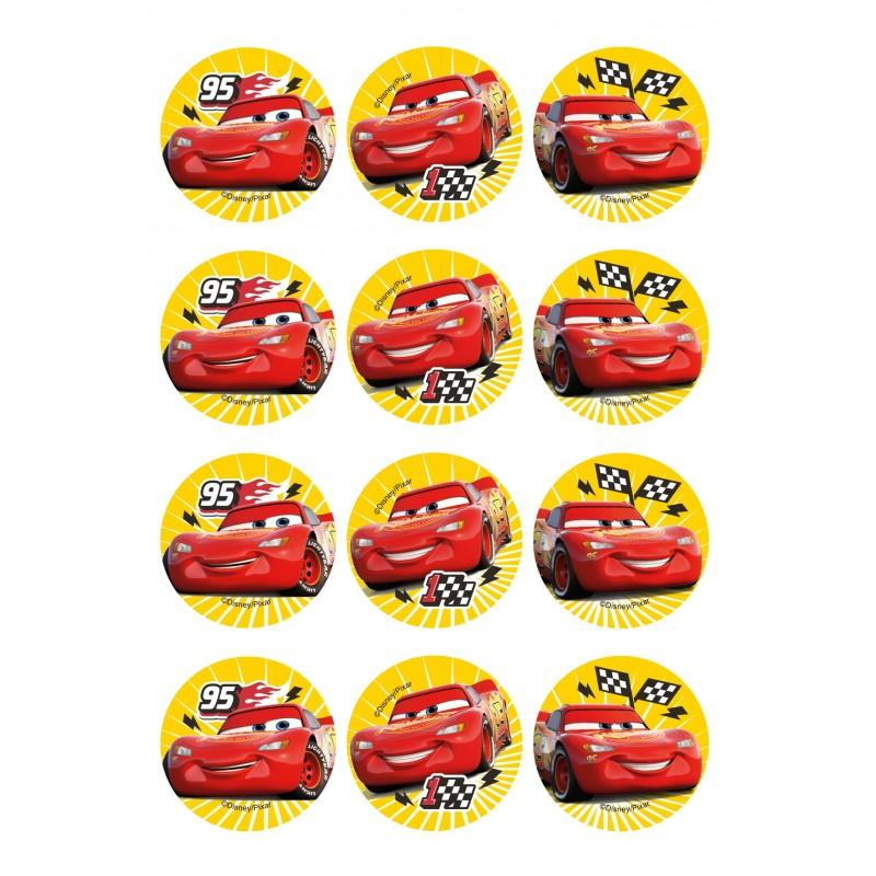 Mini disques en sucre – Cars
