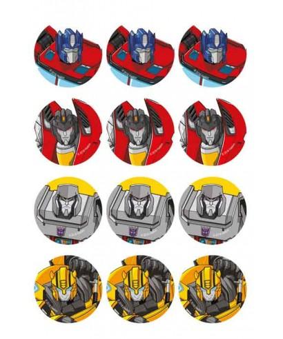 Mini disques en sucre – Transformers