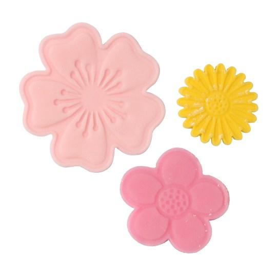 6 emporte pièces à poussoirs: 8 Fleurs
