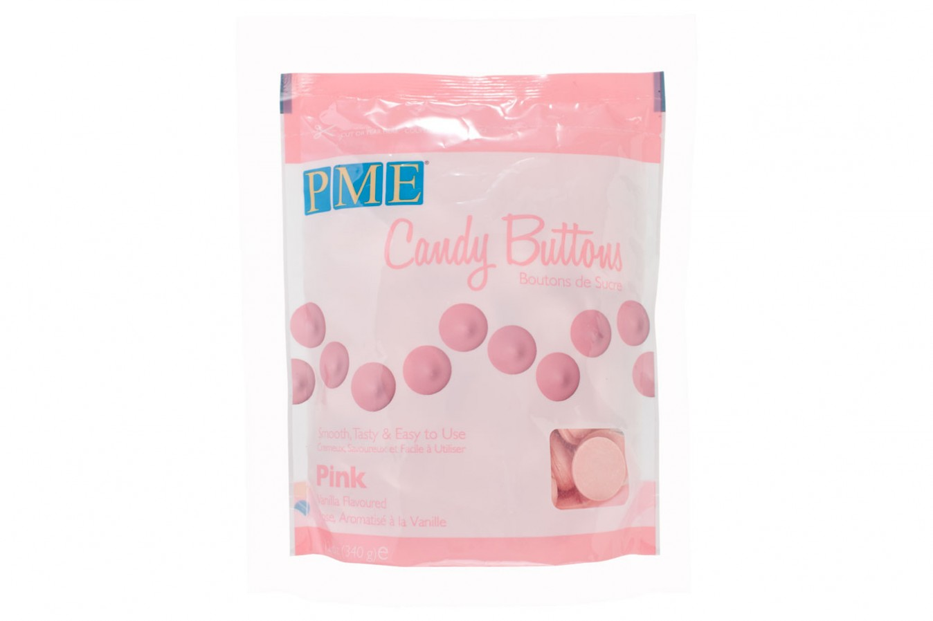 Candy Buttons 340 g – Rose