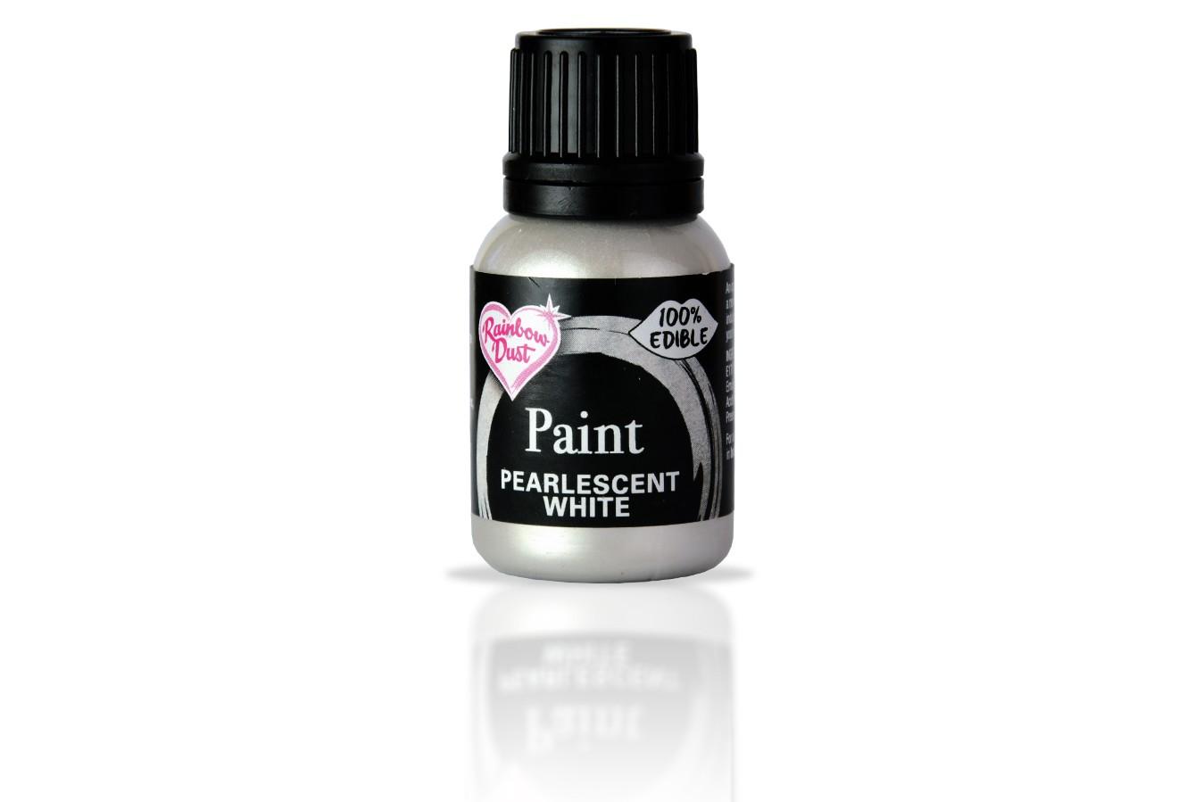 Peinture alimentaire nacré 25 ml – Blanc
