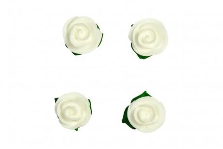 Décorations en sucre – Roses blanches