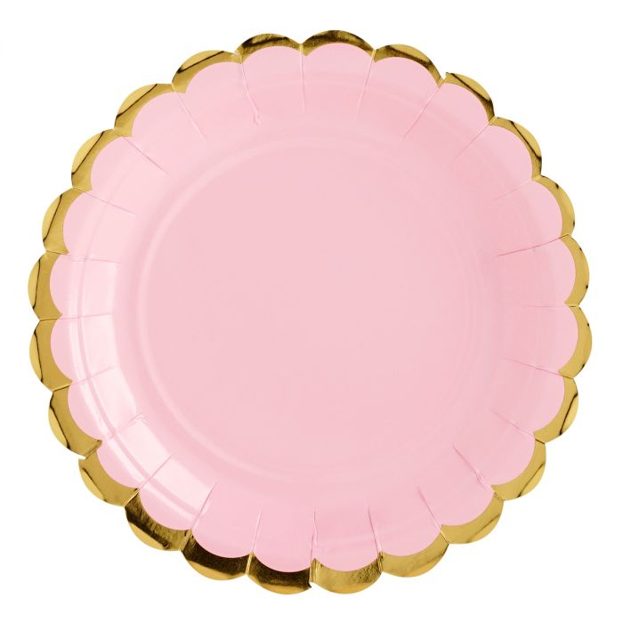 Assiettes - Rose  - Lot de 6