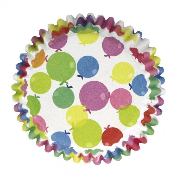 Caissettes à cupcake – Ballons multicolore  – Lot de 30