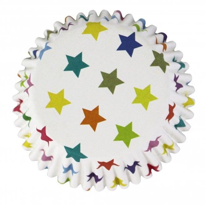 Caissettes à cupcake – Etoiles multicolore  – Lot de 30