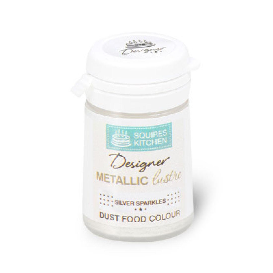 Colorant alimentaire en poudre Métallique 5 g – Argent Écarlate