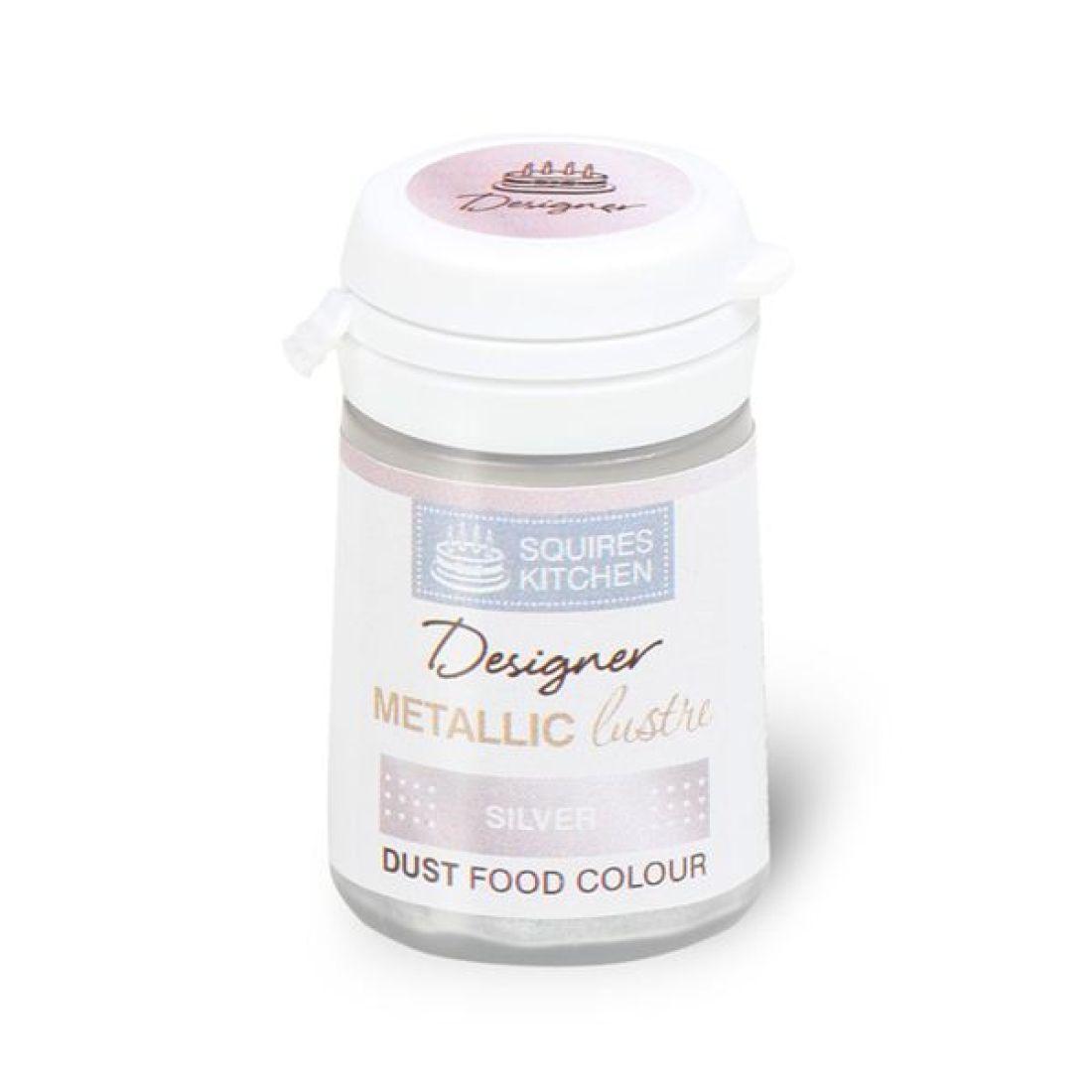 Colorant alimentaire en poudre Métallique 4 g – Argent
