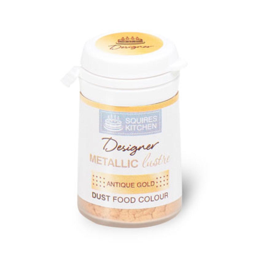 Colorant alimentaire en poudre Métallique 5 g – Or Antique