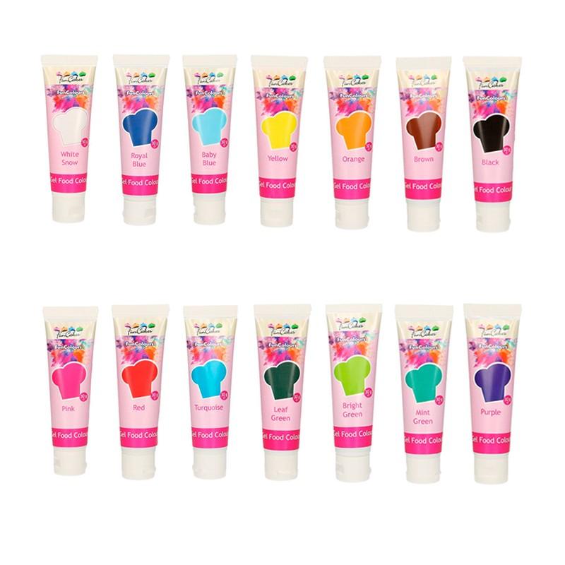 Colorant alimentaire en gel 30 g – Choisir la couleur