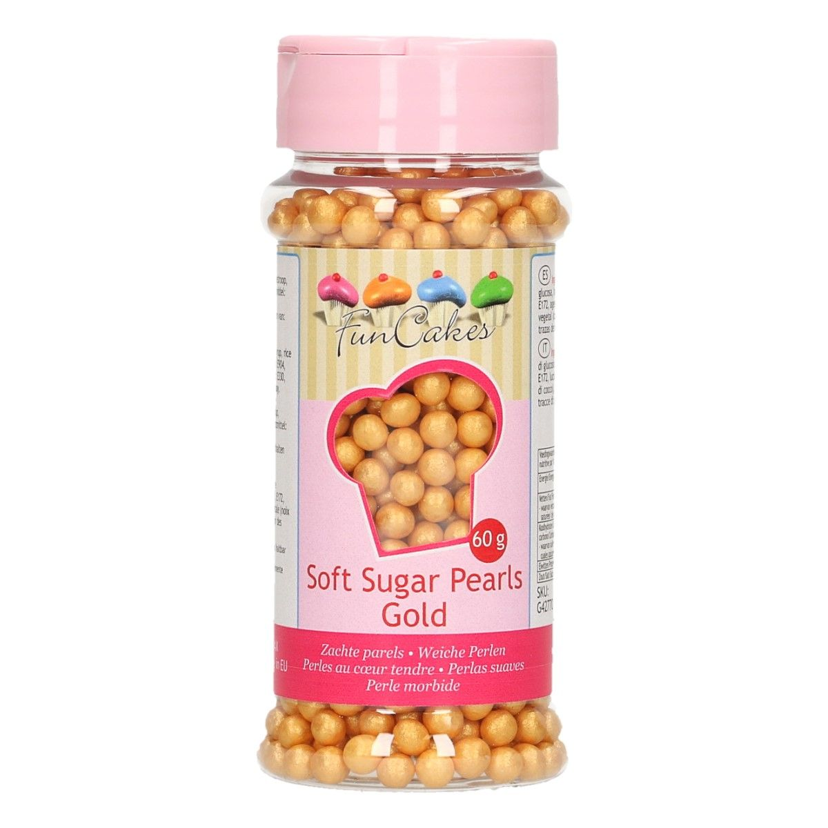 Perles en sucre 60 g - Or