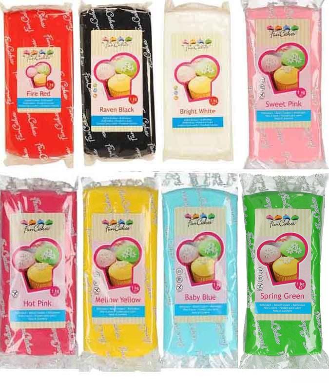 Pâte à sucre 1 kg - Choisir la couleur
