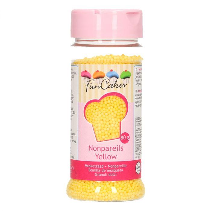 Mini perles en sucre 80 g - Jaune - DLUO