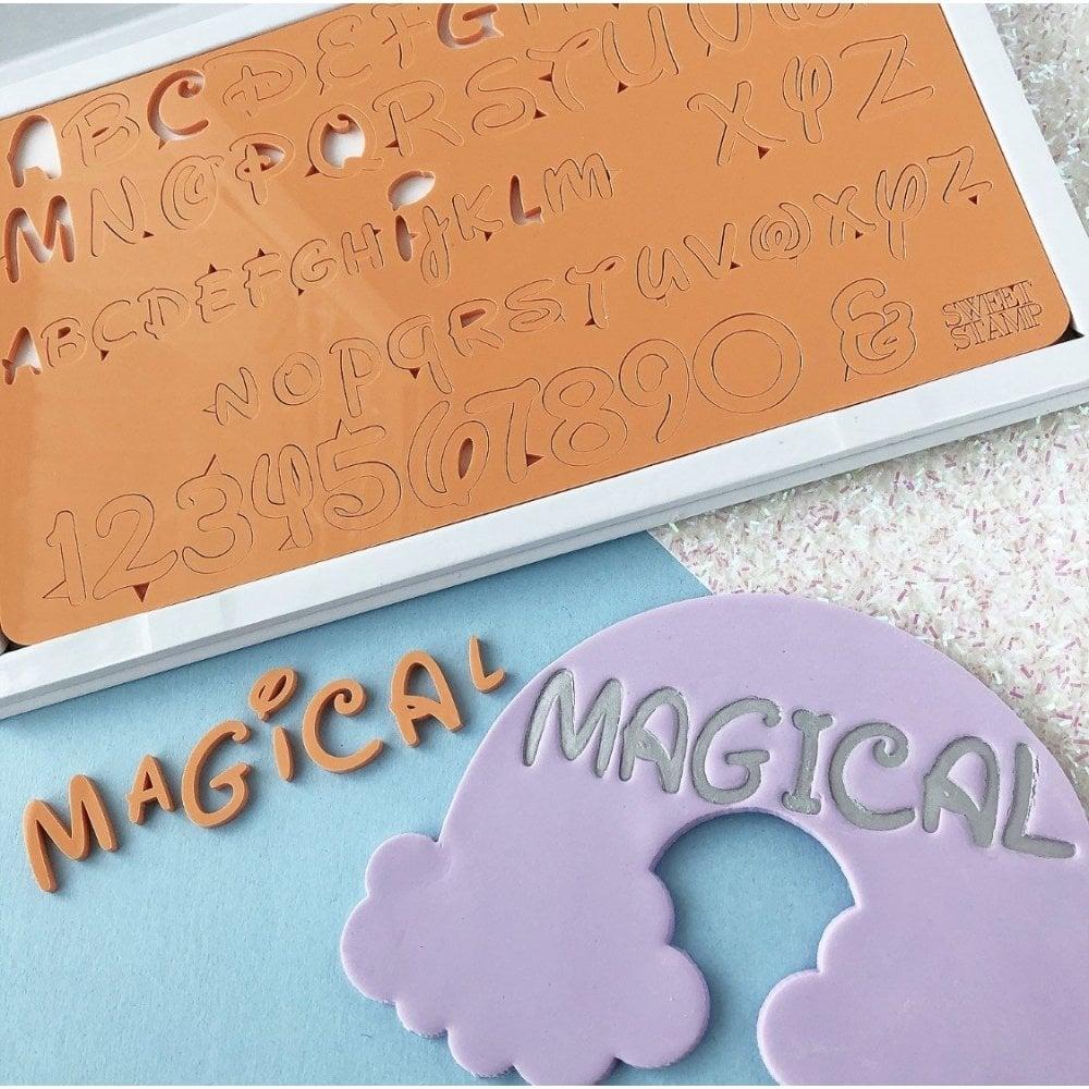 Empreintes de Lettres Majuscules et Minuscules- Magique