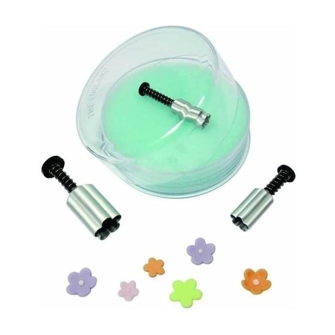 3 emporte-pièces à poussoir: Fleurs